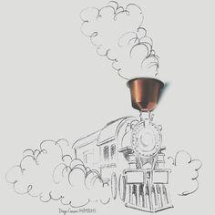 Secondo #caffè ma sono sempre #rincoglionito disegno anche male tra l'altro! Uno schizzo veloce oggi cosa devo fare? Finire di scrivere una nuova canzone, stirare due lavatrici di panni, organizzarmi per stasera e soprattutto non ho voglia di fare un... vado a dormire notte! #buongiorno #nespresso #caramello #coffee #cialde #illustrazione #treno #train #caffeine #buonagiornata @nespresso