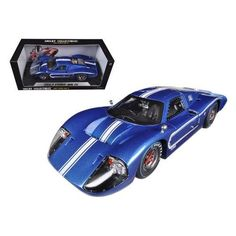 1967 Ford GT MK IV Blue 1/18 Diecast Car Model by Shelby Collectibles
