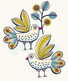 Motifs oiseaux (Magali Attiogbé)