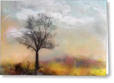 Tree Tile No. 5 Greeting Card by Victoria Primicias