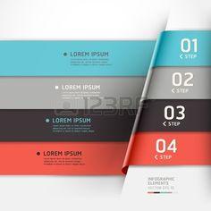 現代折り紙スタイル オプションのバナー。ワークフローのレイアウト、図、番号のオプションを使用することができます、ステップ アップのオプション、web デザイン、インフォ グラフィック。