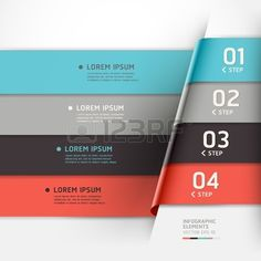 Modern origami style options banner can be used for workflow layout diagram number options step up o Stock Vector