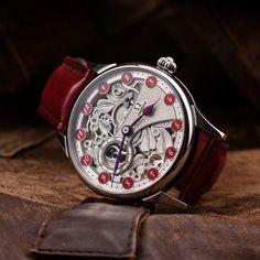 Vintage Omega Skeletonized wristwatch - made of swiss pocket watch – Patina Original Mens Skeleton Watch, Vintage Omega, Custom Leather, Watch Brands, Pocket Watch, Watches, Unisex, Accessories, Wristwatches