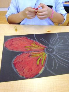Oil and Chalk Pastels in Grade Two | Art Lessons For Kids