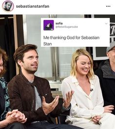 Thanking god for Sebastian Stan lol Marvel Actors, Marvel Dc, Marvel Comics, Sebastian Stan Tumblr, Winter Soldier Bucky, Dc Movies, Sea Bass, Meme Lord, Raining Men
