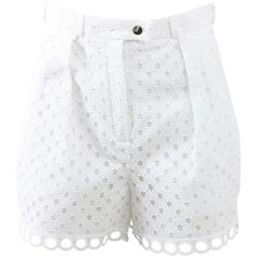 Designer Clothes, Shoes & Bags for Women High Rise Shorts, High Waisted Shorts, Shorts With Pockets, Pocket Shorts, Carven, Scalloped Hem, Short Shorts, Short Outfits, Cotton Shorts