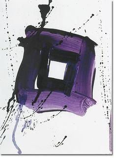 Sam Francis Untitled, 1985 acrylic on paper 28 x 20 cm