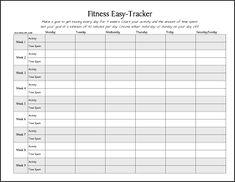 Number 1 printable on @Practips this week! #FREE #PRINTABLE: Fitness Easy-Tracker