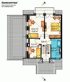 proiecte-de-case-duplex-duplex-house-plans-7 Design Case, Floor Plans, Houses, Floor Plan Drawing, House Floor Plans