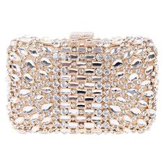 Fawziya Bling Box Clutches And Evening Bags For Women Clutch Bag-Gold 2e51ccd6841e6