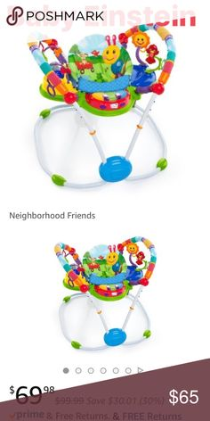 Baby Einstein activity gym colorful music/ sounds Like new! Secure support seat has added height and padding to provide additional comfort for baby Seat rotates 360 degree to give baby full access to toys 4 fun activity stations-includes piano that activates lights, classical melodies, and language learning in English, French and Spanish 5 height settings grow with baby baby einstein Other