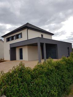 Modern House Design, Architecture, Pergola, Garage Doors, Outdoor Decor, Desk, Home Decor, Verandas, House Siding