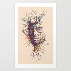 Natural Existence Art Print by Norman Duenas