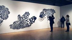 Exploding Lace installation by Lizz Aston, via Flickr