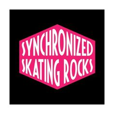 "~Ansteckbutton ""Synchronized Skating Rocks"" button"
