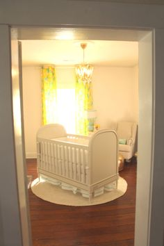 What do you think of the crib placement in the middle of the room like this? We're kind of loving it!