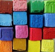 colorful chalk
