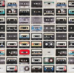 Mixed Tapes Wallpaper by Kemra Boutique