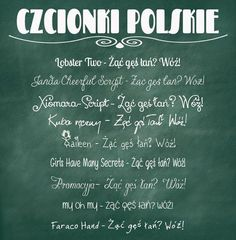polskie-czcionki Font Digital, Travelling Tips, The Secret, Hand Lettering, Script, Decoupage, Diy And Crafts, Wedding Invitations, Fonts