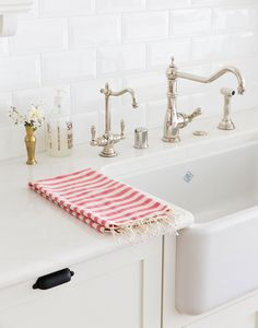 pink striped hand towel from the little market {love!}