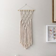 New Macrame Wall Hanging pattern available now. ✨