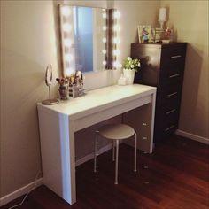 bedroom vanity with lights 45