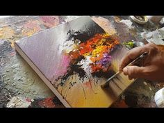 "Abstract acrylic painting Demo Video / Original Art / Abstract art / ""Energy By Roxer Vidal"" - YouTube"