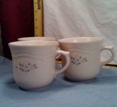 Pfaltzgraff Remembrance Pattern Set of 3 Coffee/Tea Cups Ex. Cond. FAST SHIPPING #Pfaltzgraff