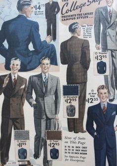 1930s young men suit fashion at VintageDaner.com