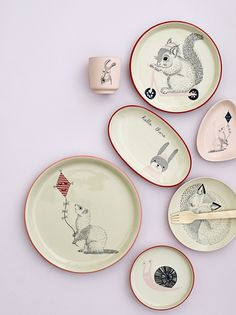 Mollie tableware from the Bloomingville Mini collection