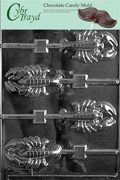 Cybrtrayd N010 Nautical Candy Mold Chocolate, Lobster Lolly : Amazon.com : Kitchen & Dining