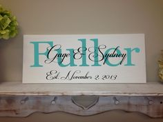 Personalized Wedding Sign with First and Last by SweetDayDesigns