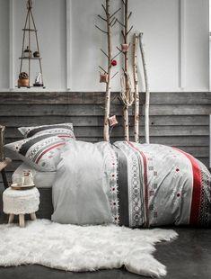 d58ead11ed8 Juego de cama doble estilo vacaciones de invierno Hogar - BLANCO - Kiabi -  35