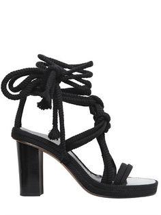 Isabel Marant Rope Wrap Sandals