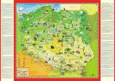 Polska mapa ścienna dla dzieci NOWOŚĆ 140x100cm