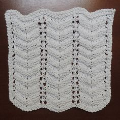 039 - Improved Feather and Fan Dishcloth