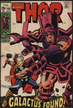 THOR #168 THE ORIN OF GALACTUS! NICE CENTS CO... http://ebay.to/1HUHz8M via @ebay_uk #Comics #geek #Collectibles