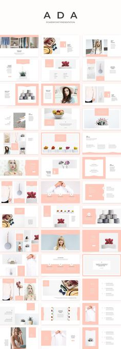 Ada PowerPoint Presentation by SlideStation on @creativemarket #powerpoin #presentation #templates #fashion #feminine #layout #inspiration #pitch
