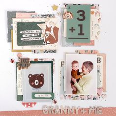 Baby Scrapbook, Scrapbook Paper Crafts, Scrapbook Pages, Scrapbooking, Scrapbook Layouts, Mini Albums, Image Layout, Magical Forest, Crate Paper