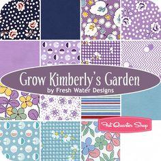 Grow Kimberly's Garden Fat Quarter Bundle Fresh Water Designs