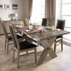 rustikale möbel esszimmer einrichten esstisch stühle