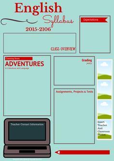 visual syllabus template made with Canva High School Syllabus, High School Classroom, English Classroom, Teaching Latin, Teaching Writing, Teaching English, Syllabus Template, Teacher Forms, High School English