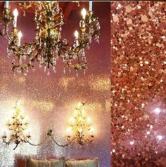 GLITTER WALLPAPER Chunky Glitter Wall Covering By The YARD.
