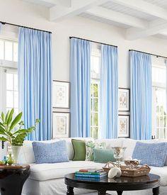 blue draperies