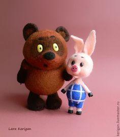 Купить Винни Пух и Пятачок - Винни Пух, мультяшка, мультгерой, герой мультфильма, медведь