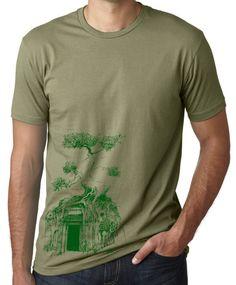 Men's original art t shirt bodhi tree by ScottAllisonArt on Etsy, $18.00