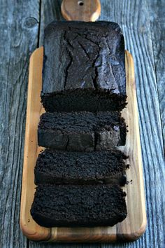 Chocolate Red Wine Loaf Cake