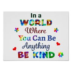 Live For Yourself, Create Yourself, Autism Quotes, You Make A Difference, Life Poster, You Can Be Anything, Spectrum Disorder, Custom Posters, Postcard Size