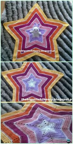 Crochet Bunny Star Blanket Free Patterns - Crochet Baby Easter Gifts Free Patterns