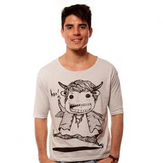 Hey Hoo Shoulder Light Grey Tee